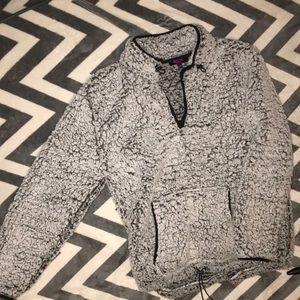 Cozy black & white hoodie